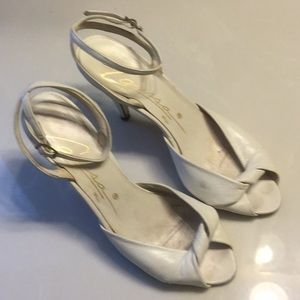 CARESSA vintage beige high heels SZ 5
